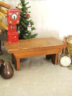 Antique Wooden Bench Farmland Chic