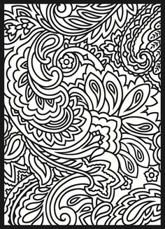 From Paisley Designs Stained Glass Coloring Book by Dover Publications