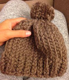 Chunky knit beanie  Keeping heads warm  http://www.etsy.com/shop/paCkbAby  #etsy #knitwear #beanie #knitbeanie #babybeanie