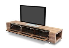 Stylish Design Furniture - Modrest GBD005 Modern Walnut Veneer TV Stand, $800.00 (http://www.stylishdesignfurniture.com/products/modrest-gbd005-modern-walnut-veneer-tv-stand.html)