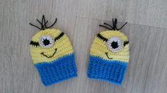 Luvas Crochê para bebê Minions. <br>Obs.: Faço em outros temas. Para Jovens Consultar preço. <br> <br>FRETE GRÁTIS SOMENTE PARA SÃO PAULO.