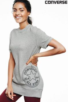 Buy Converse Grey Chuck Patch Sweat Tunic from the Next UK online shop
