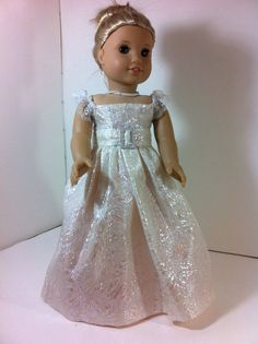 Princess Long  Pink Gown Designed to Fit American by llullugirl