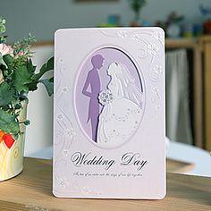 Classic Bride & Groom Design Wedding Invitation - Set of 50 – USD $ 82.99