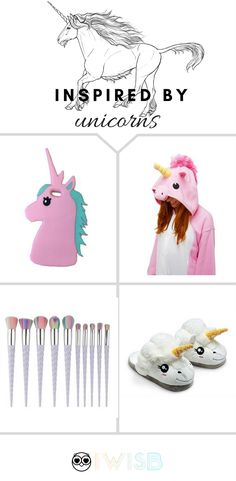 Unicorn jewelry, unicorn slippers, unicorn phone covers, unicorn onesies! You'll never run out of unicorn merch in our store :)