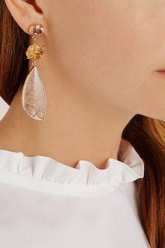 Melissa Joy Manning14-karat Gold Multi-Stone Earrings