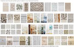 concept wall. Crackle matte tile. Shadow. Encore Ceramics.  Renaissance Tile & Bath 349 Peachtree Hill Ave. NE Atlanta, GA 30305 404.231.9203