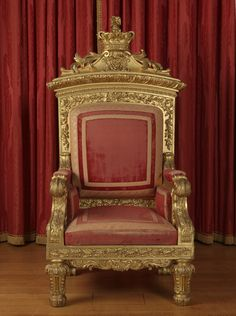 Queen Victoria's throne.  Made for her coronation in 1837.  It now sits in the throne room at Buckingham palace.