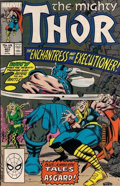THOR #403  MARVEL COMICS  TOM DeFALCO / RON FRENZ / JOE SINNOTT  1989 vf(8.0) ~*
