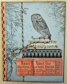 Sunday View: Halloween card with Oxford Impressions' Danse Macabre stamps