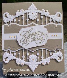 A Peek Inside The Creative Corner: Elegant Birthday Card