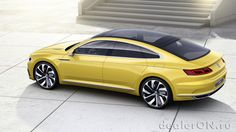 Концепт Volkswagen Sport Coupe Concept GTE / Фольксваген Спорт Купе GTE – вид сбоку