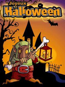A imprimer pour la fête d'Halloween, une carte d'invitation avec l'image d'un troll