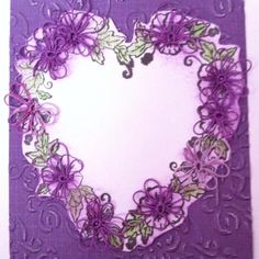 Finished card with tatting