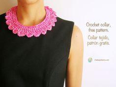Crochet collar/ Collar tejido   Chabepatterns