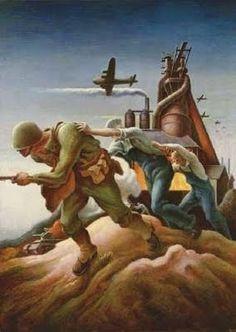 ART & ARTISTS: Thomas Hart Benton - part 4 WWII