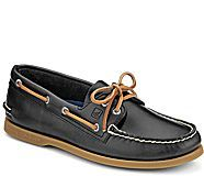 Authentic Original Cyclone Leather 2-Eye Boat Shoe, Gray
