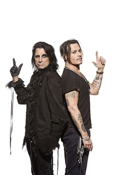 The Hollywood Vampires Alice Cooper and Johnny Depp