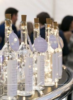 Great idea for an alternative wedding table plan..winter weddings can use lots of lighting to bring a little extra sparkle!