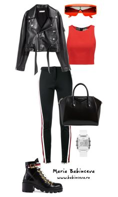 Без названия #586 by mariaalex-stylist on Polyvore featuring polyvore, fashion, style, Alice + Olivia, SKINN, Gucci, Givenchy, GUESS, ZeroUV and clothing