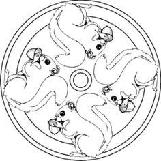 eichhörnchen mandalas   ausmalbilder für kinder