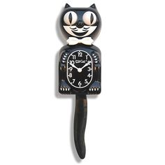 Black Gentleman Kit Kat Clock 30s 40s 50s Rockabilly Vintage Cat Kustom Kulture