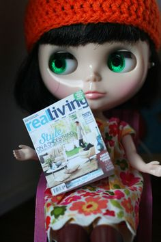 Miniature Real Living Magazine, Handmade by me.