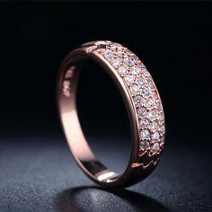 Vintage Putaran Anilos rose gold 585 cincin pernikahan perhiasan retro rings punk bague wanita mode bijoux anel aros LJ007