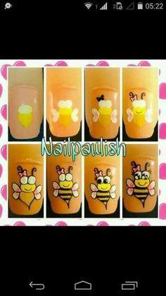 Acryl Nails, Easy Nail Art, Nail Manicure, Nail Designer, Clip Art, Hand Painted, Triangles, Designed Nails, Pretty Nails