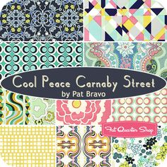 Cool Peace Carnaby Street Fat Quarter Bundle Pat Bravo for Art Gallery Fabrics - Fat Quarter Shop