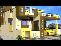 This channel is made for free house plans and designs ideas for you. House Front Wall Design, Single Floor House Design, Bungalow House Design, Small House Design, Modern House Design, Free House Plans, Family House Plans, Sims 4, 30x40 House Plans