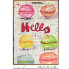 Watercolour macaroon illustration card Watercolor Cards, Watercolour, Paper Crafts, Illustration, Blog, Design, Pen And Wash, Watercolor Painting, Tissue Paper Crafts