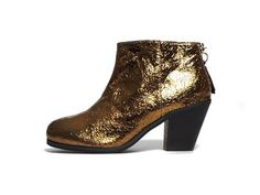 Vegan Shoes & Bags: Adelaide Short Bootie by Cri de Coeur in Gold