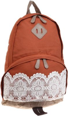 lace and canvas backpack but maybe a pink one instead :)
