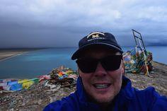 Steven Strom, MBA'86, visits Namtso Lake in the Tibet Autonomous Region of China.
