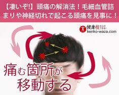 【凄いぞ!】頭痛の解消法!毛細血管詰まりや神経切れで起こる頭痛を見事に!健康技3