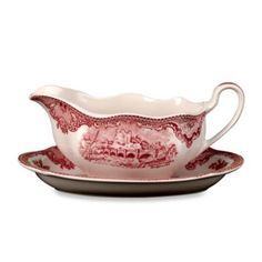 Wedgwood® Johnson Brothers Old Britian Castles Gravy Boat in Pink - BedBathandBeyond.com