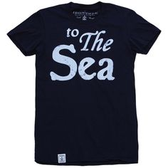 Irontree Clothing Women's To The Sea T-Shirt ($29) ❤ liked on Polyvore featuring tops, t-shirts, blue t shirt, fitted t shirts, fitted tops, henley tee and henley t shirt