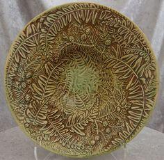 "Rare 11.5"" Weller Pottery Marvo Console Bowl"