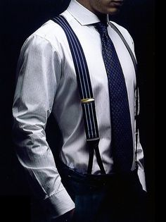we are so into Suspenders! These are stylish accessories that is an absolute most to take that outfit from bland to uber classy! Check out our array of stylish suspenders. Gentleman Mode, Gentleman Style, Sharp Dressed Man, Well Dressed Men, Suspenders Fashion, Men's Suspenders, Classic Men, Classic Style, Timeless Classic