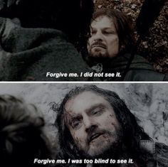 The parallel between Thorin and Boromir-power, but power to protect their people. Tolkien really wrote these two characters brilliantly.