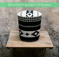 How to make a #DIY upholstered ottoman from a 5 gallon utility bucket!
