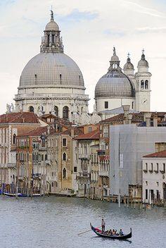 The lonely gondola, Venice, Italy