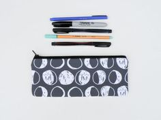 For the astronomy obsessed, pick up this Phases of the Moon Pencil Case ($18, StarlightBags/etsy.com). A cool catch-all for loose school supplies.