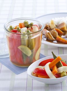 夏野菜のスティックピクルス