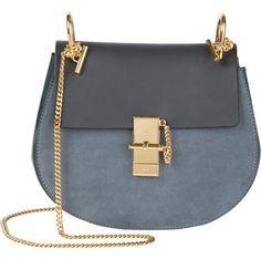 Chloe Drew bag dark & light blue
