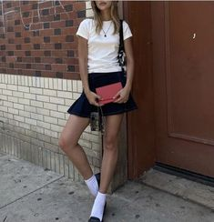 Private School Girl, Pretty Outfits, Pretty Clothes, Skater Skirt, White Shorts, Shirt Dress, Fitness, Casual, Skirts