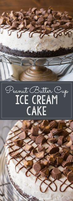 The easiest way to make an ice cream cake!