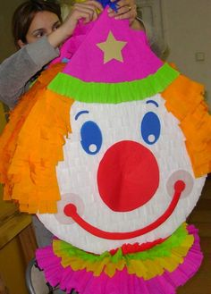 PAYASO Clowns For Birthday Parties, 5th Birthday Party Ideas, Circus Birthday, Circus Party Decorations, Circus Theme Party, Homemade Carnival Games, Clown Party, Sonic Birthday, Pinata Party