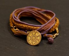 Warm Embrace multi warrior wrap with Lepidolite by alccreations